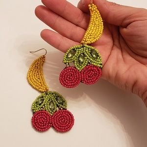 Tropical Beaded Earrings